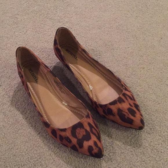 Target Merona Brand Leopard Pointy Toe